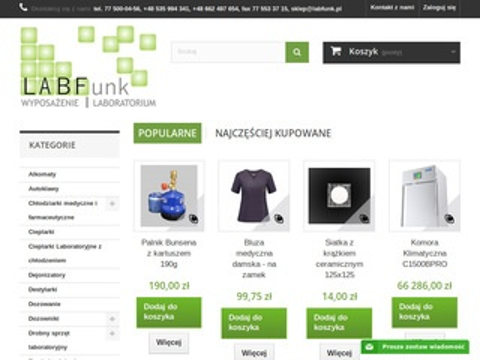 Labfunk.pl wyposażenie laboratorium
