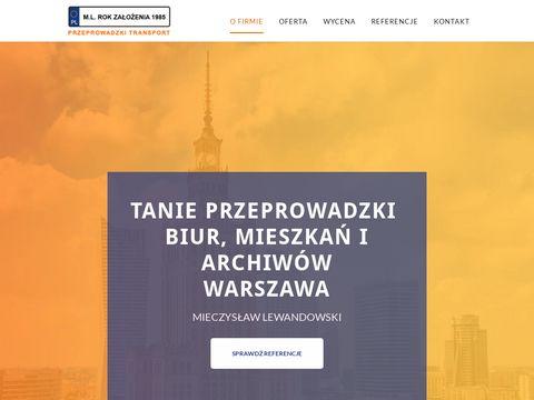 Lewandowski przeprowadzki biur w Warszawie