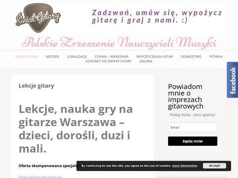 Lekcjegitary.com.pl Świat Gitary - nauka gry na gitarze