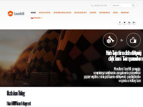 Leanhill.com doradztwo dla zakładów produkcyjnych