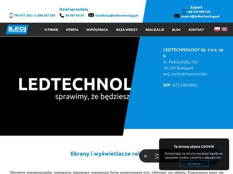 Elektroniczne reklamy zewnętrzne LED