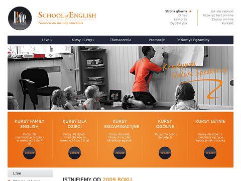 Live - Szkoła Języka Angielskiego Sompolno