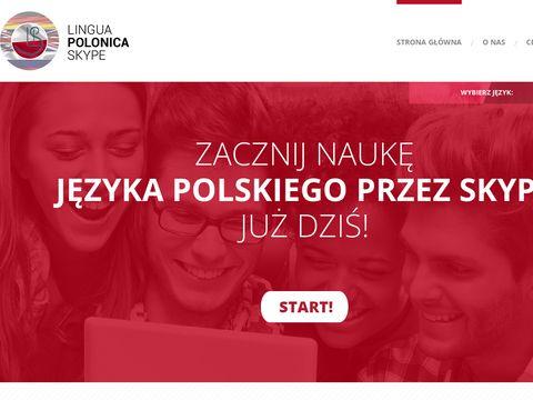 Linguapolonicaskype.pl nauka polskiego