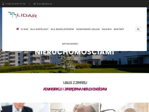 Lidar administrowanie nieruchomością Warszawa