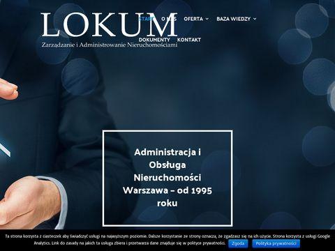 Lokum.waw.pl zarządca nieruchomości Warszawa