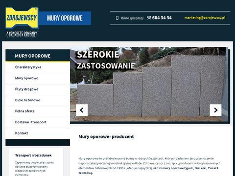 Muryoporoweproducent.pl, elki, ściany oporowe