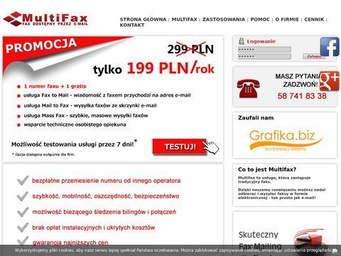 Multifax.pl - faks przez internet