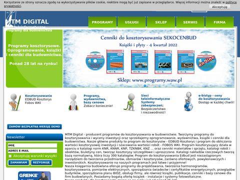 MTM Digital - program do kosztorysowania EDBUD Kosztorys