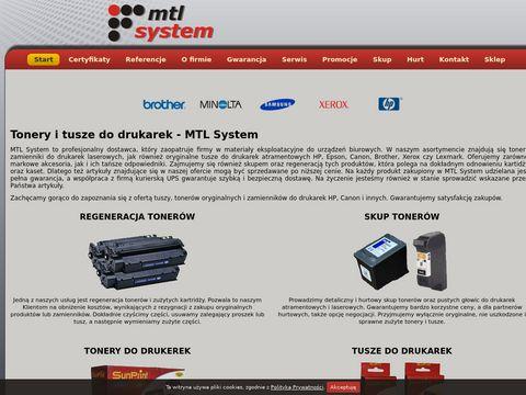Tonery - wszystkie modele - MTL System
