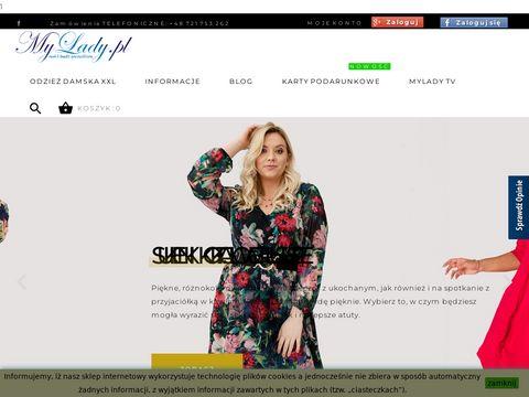 Mylady.pl duże rozmiary, sklep internetowy dla puszystych