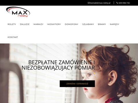 Max-rolety.pl rolety zewnętrzne