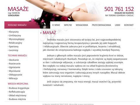 Masaze.tx.pl masaż leczniczy Trójmiasto
