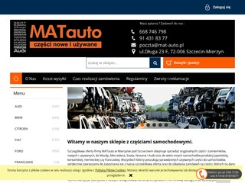 Mat-auto.pl Audi części używane Szczecin