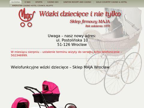 Maja.sklep.pl częsci do wózków dziecięcych Wrocław