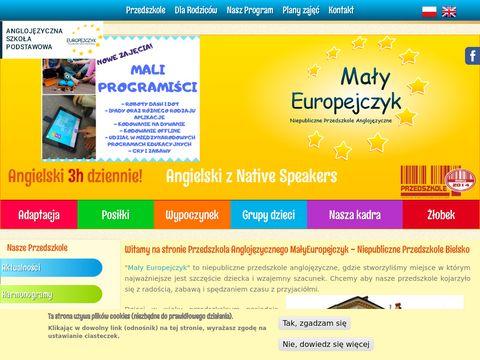Malyeuropejczyk.pl przedszkola Bielsko