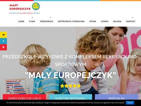 Malyeuropejczyk.com.pl przedszkole językowe