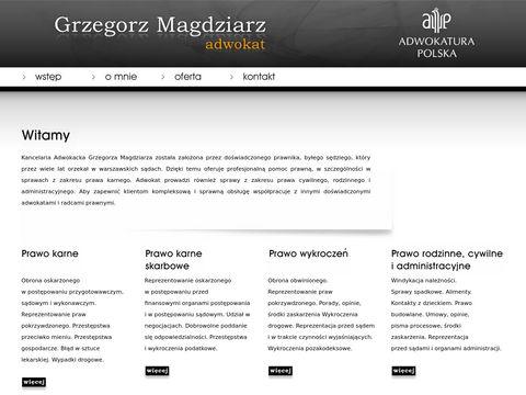 Kancelaria Adwokacka Adw. Grzegorz Magdziarz - sprawy karne
