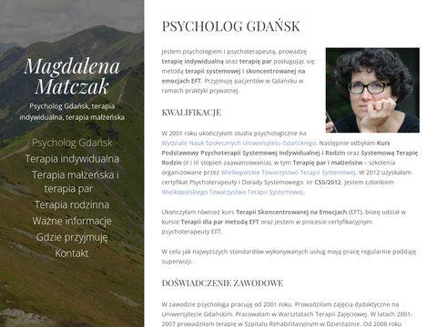 Magdalenamatczak.pl - psycholog, terapia, Gdańsk