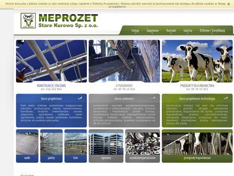 Konstrukcje stalowe hal - meprozet.biz.pl