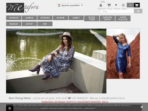 Metafora.net.pl polski producent odzieży damskiej