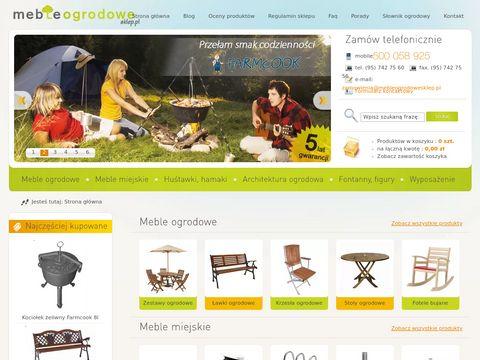 Meble ogrodowe ławki, krzesła, stoły, zestawy ogrodowe -Nortpol