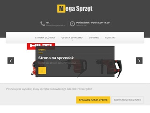 Megasprzet.pl wypożyczalnia maszyn budowlanych