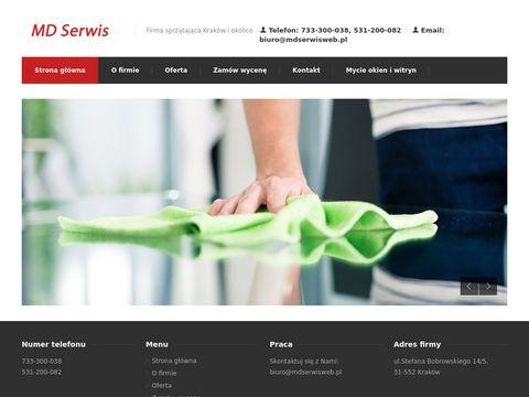 Mdserwisweb.pl firma sprzątająca w Krakowie