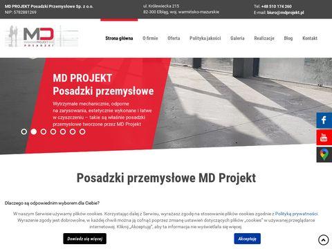 Mdprojekt.pl betonowe posadzki bezspoinowe