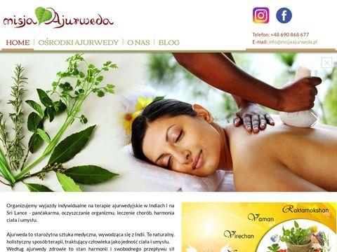 Misjaajurweda.pl wyjazdy terapeutyczne do Indii