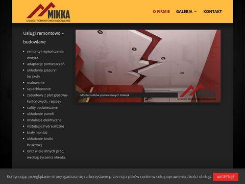 Mikka.com.pl usługi remontowe Gdańsk