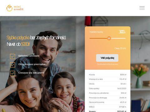 Szybkie pożyczki w MiniCredit.pl