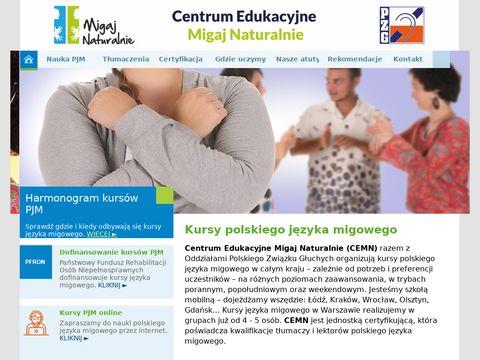 Migajnaturalnie.pl PJM Kursy języka migowego w Łodzi