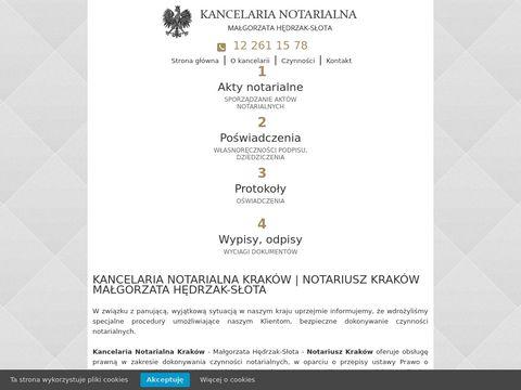 Mhs-notariusz.pl M. Hędrzak-Słota D. Klimonda