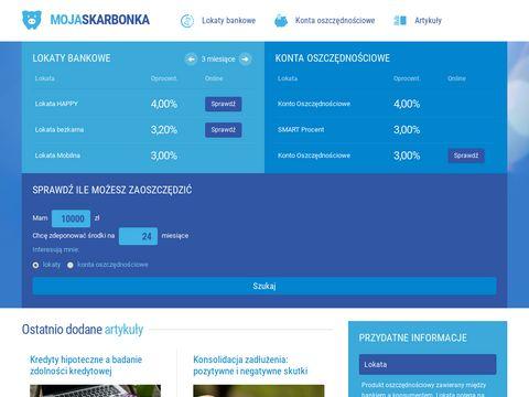 Moja-skarbonka.pl - najlepsza lokata bankowa