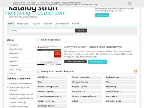 MonitoringPoznan.com - bezpłatny katalog stron