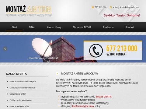 Instalacja anten Wrocław