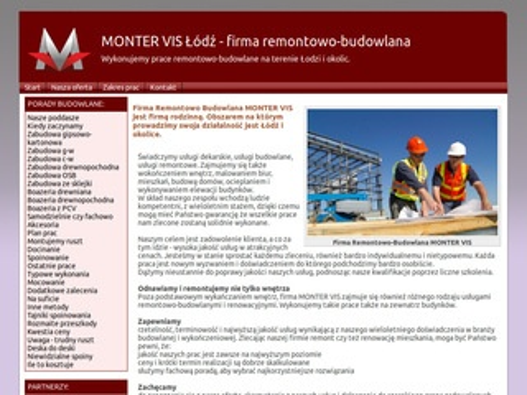 Monter Vis - firma budowlana Łódź
