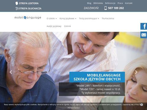 Mobilelanguage.pl - angielski Warszawa