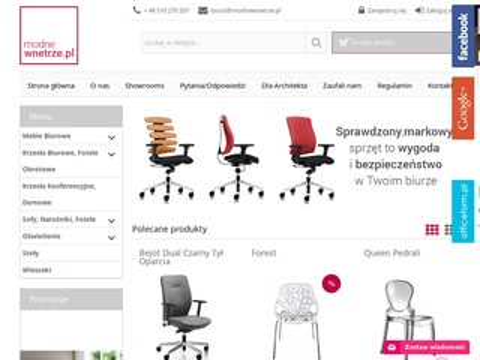 Modnewnetrze.pl meble biurowe, krzesła Sitag