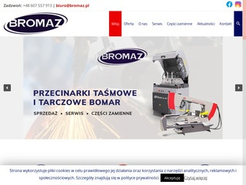 Bromaz.pl przecinarki, serwis Bomar