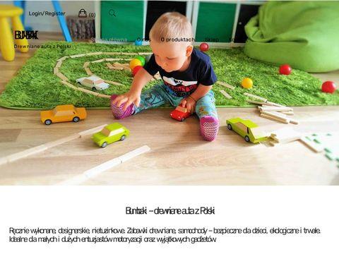 Bumbaki.pl drewniane autka zabawki Polskie