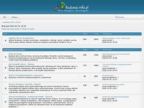 Budowa-info.pl - forum budowlane