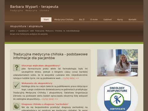 Barbarawypart.pl akupunktura, medycyna chińska
