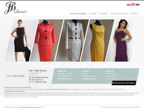 Producent odzieży damskiej, sukienki