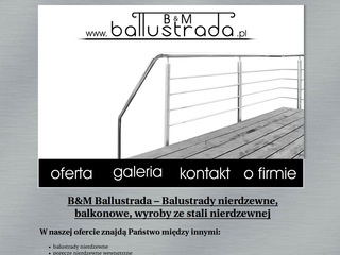 Ballustrada.pl - balustrady i poręcze