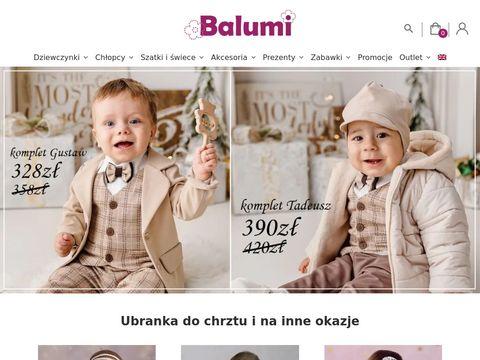 Balumi - ubranka do chrztu Warszawa