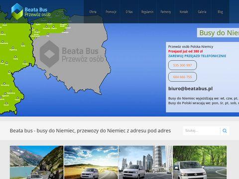 Beatabus.pl szukasz transportu na zachód sprawdź