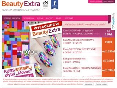 Beautyextra.pl - kursy wizażu