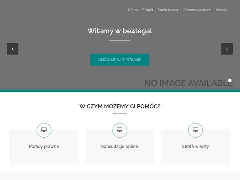 Be4legal.pl prawnik Wrocław, kancelaria prawna