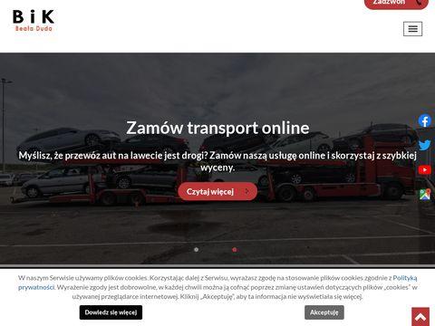 Bik-transport.pl samochodów osobowych